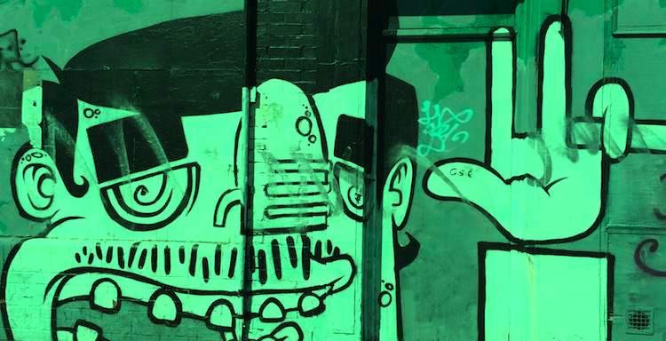 Street art in Smithfield in Dublin
