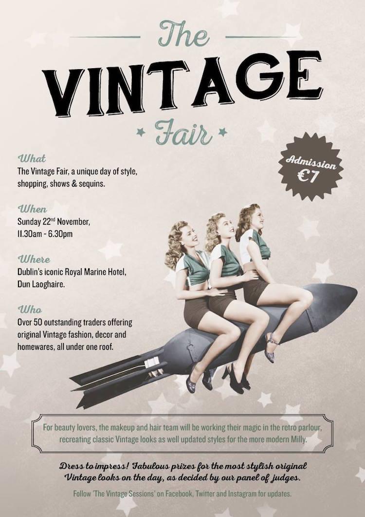 Dublin Vintage Fair poster Nov 2015