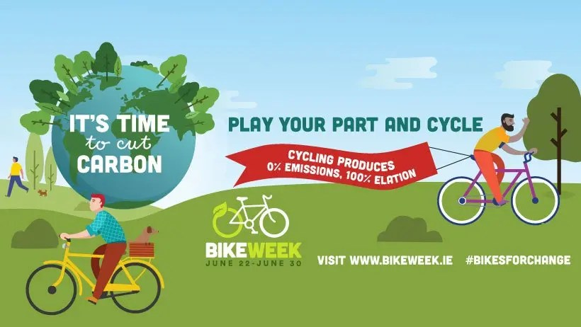 Graphic Poster showing cyclist on a park setting