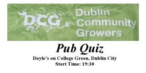 Notice announcing 2012 DCG's Pub Quiz Night
