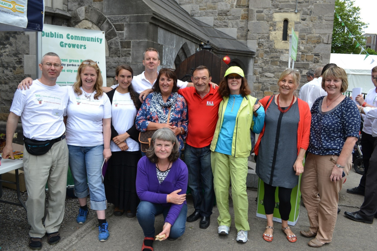 DCG members at the Dublin Garden Festival at Christ Church Cathedral