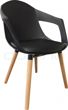 black plastic chair with wooden legs swivel for two dl sunny oak wood