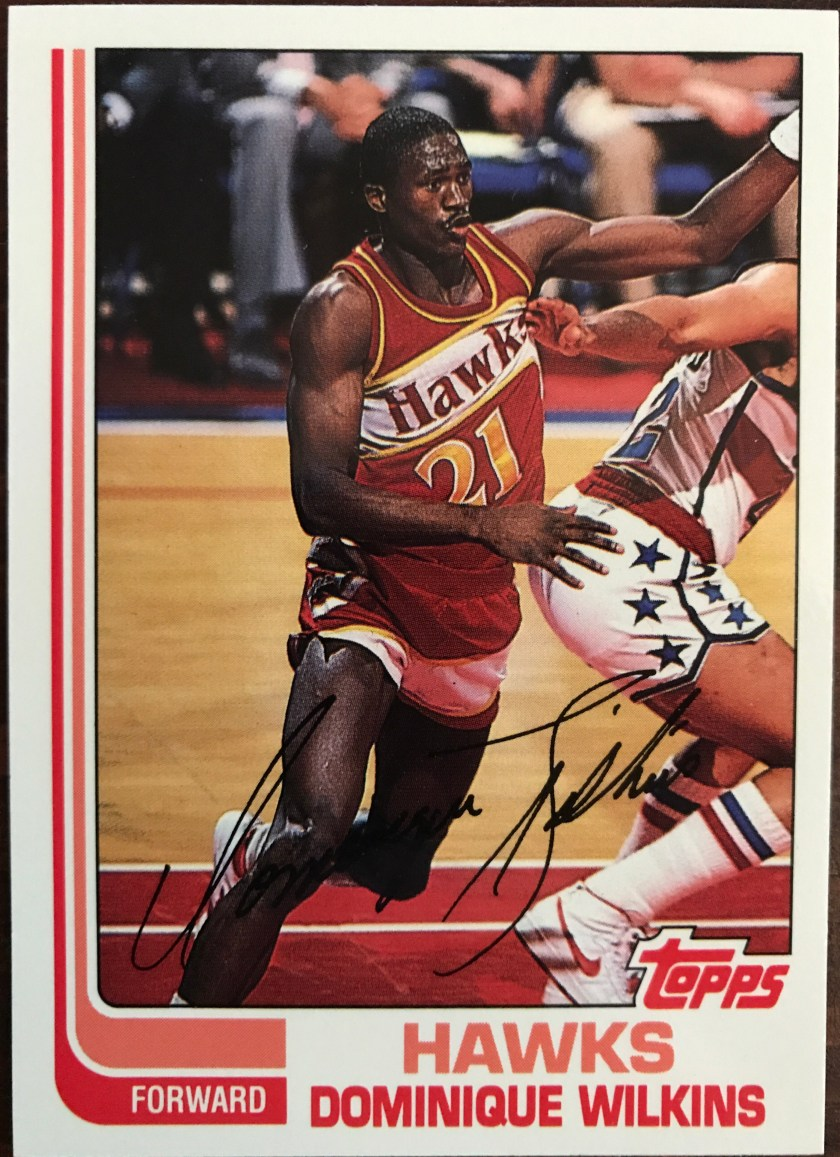 95507463e634 1982 – Cards 23-31 – These are very good looking. The group includes two  major names  Dominique Wilkins and James Worthy.