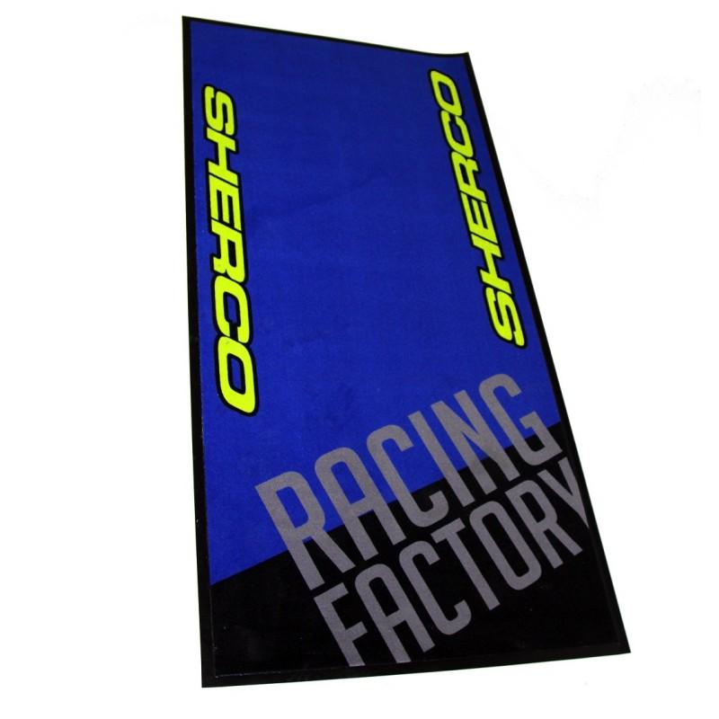 tapis sherco bleu 95 x 200 cm