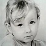 Portrét dívky, 2016, kresba tužkou a tuší na papíře, cca 28,0×20,0 cm
