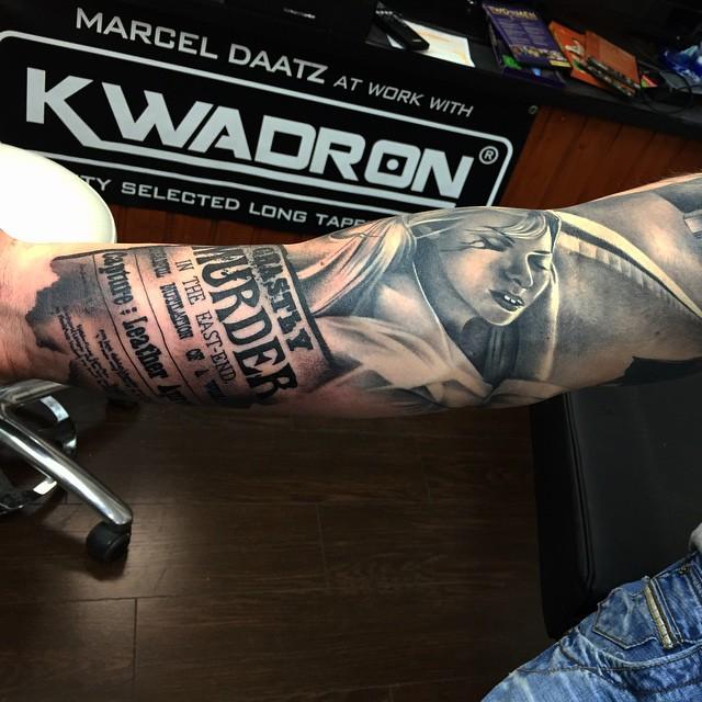 News Parer Realistic Arm tattoo  Best Tattoo Ideas Gallery