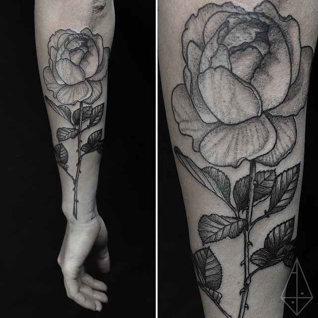 rose arm dotwork best