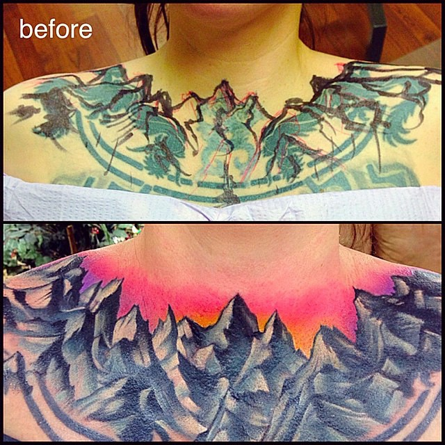 Collarbone Cover Up Tattoo Ideas