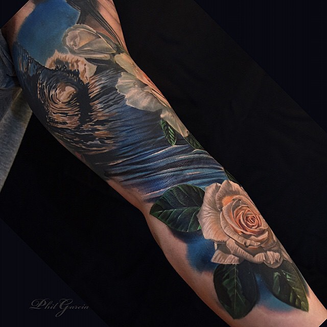 Wave Tattoo Arm