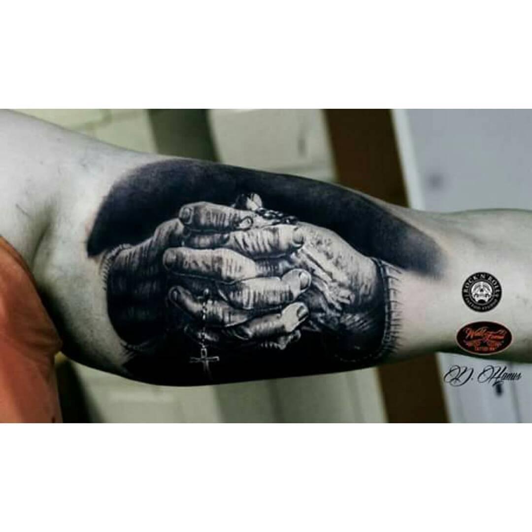 Rock N Roll Hand Tattoo