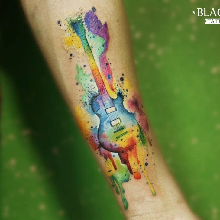 24 Cool Guitar Tattoo Designs  Best Tattoo Ideas Gallery