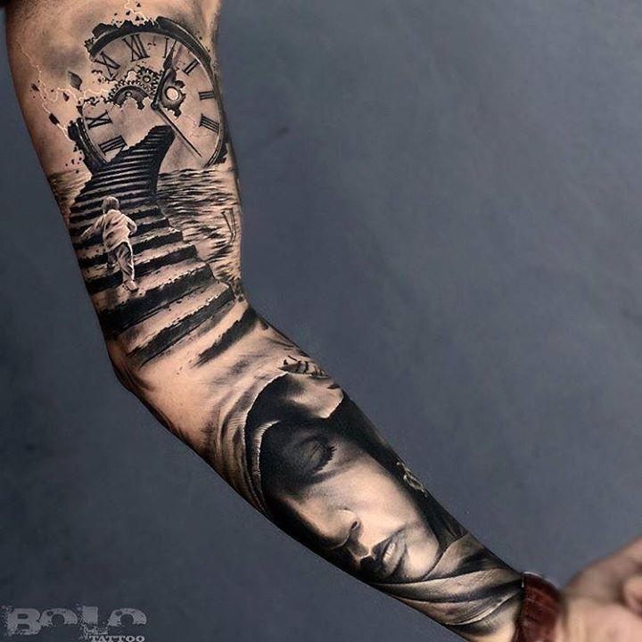 3D Sleeve Tattoo  Best Tattoo Ideas Gallery