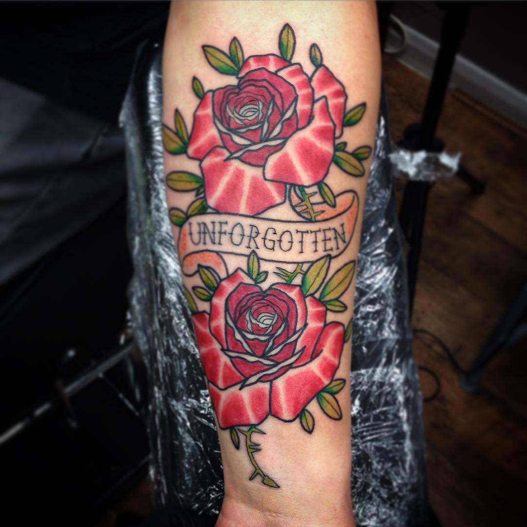 Roses Forearm Tattoos For Guys