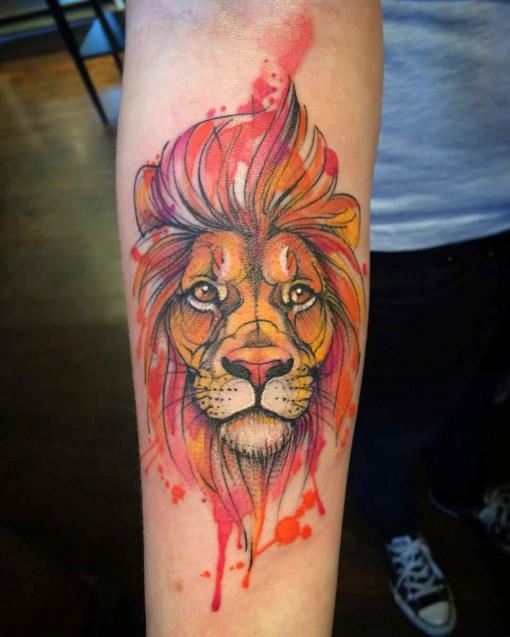 20 Watercolor Female Lion Tattoos Ideas And Designs