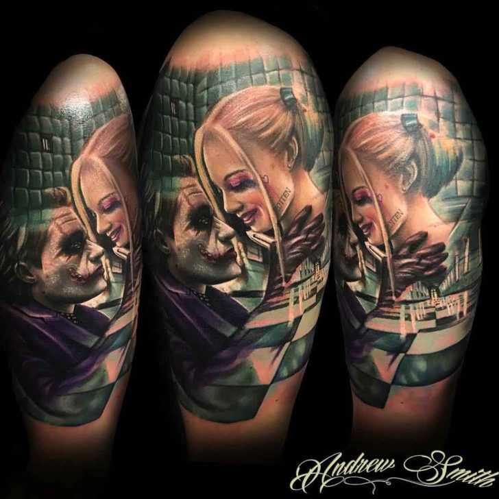 Joker And Harley Tattoos For Couples
