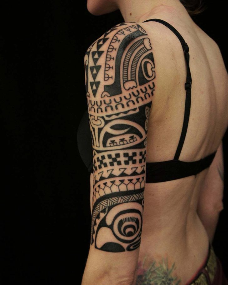 Tribal Dragon Half Sleeve Tattoos