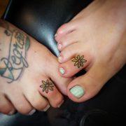 flower toe tattoos tattoo
