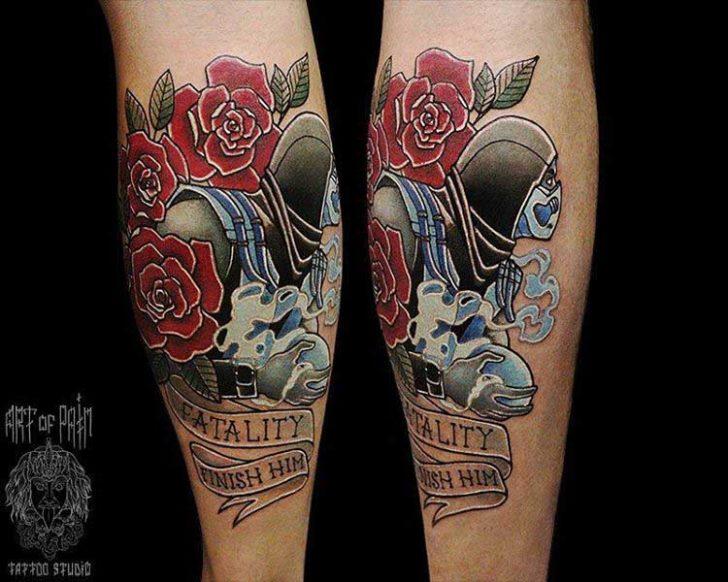 Scorpion Mortal Kombat Tattoo Designs