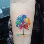 Watercolor Tree Tattoo On Arm Best Tattoo Ideas Gallery
