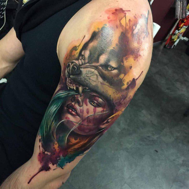 Gas Mask Girl Wallpaper Werewolf Tattoo Girl Best Tattoo Ideas Gallery