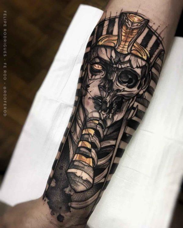 egyptian pharaoh tattoo