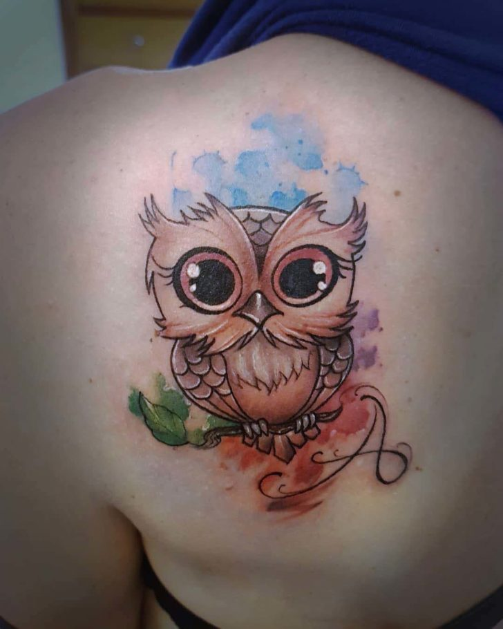 Image of: Compilation Shoulder Blade Tattoo Owl Cute Dubuddhatattoo Cute Owl Tattoo On Shoulder Blade Best Tattoo Ideas Gallery