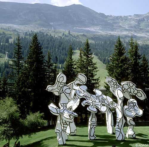 Le Boqueteau - Sculpture de Jean Dubuffet a Flaine