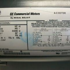 General Electric Single Phase Motor Wiring Diagram Elan Volume Control New Ge Commercial C366 5kc32gn25j Regal Beloit