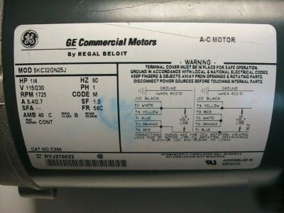single phase capacitor start wiring diagram car remote diagrams new ge commercial motor c366 5kc32gn25j regal beloit