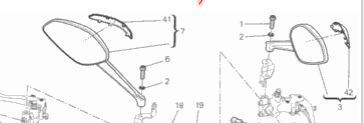 Ducati Monster 821 1200 Spiegel links original neu