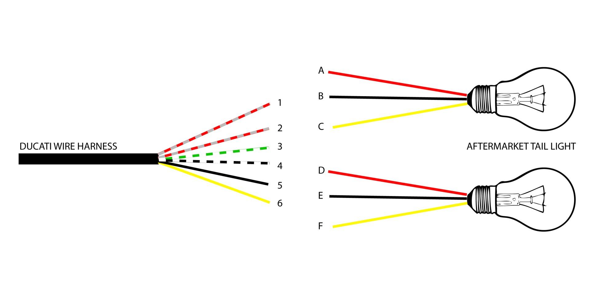 hight resolution of ducati monster tail light wiring diagram
