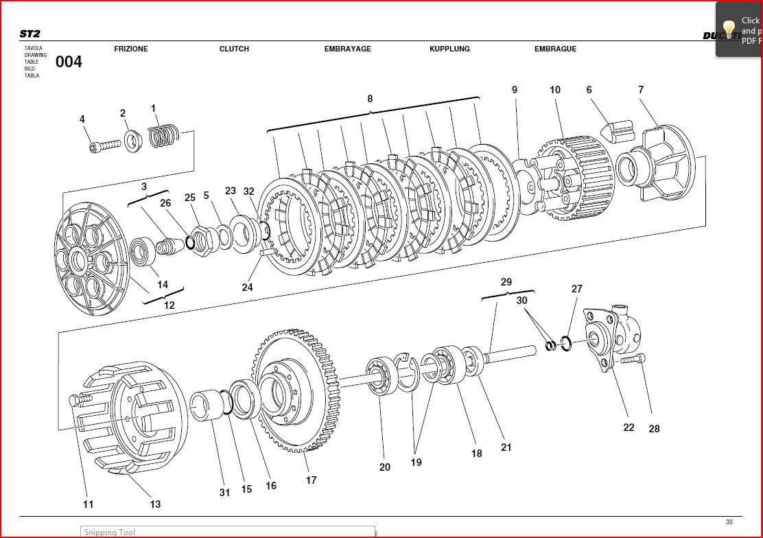 stock st2 clutch: How many plates and in what order