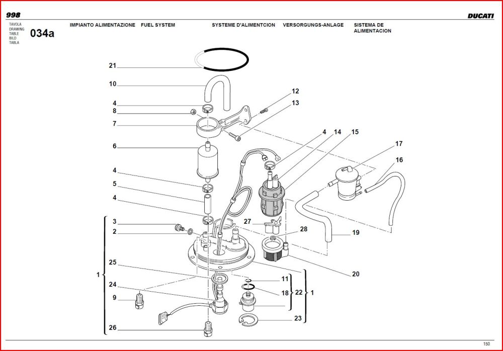 medium resolution of ducati st2 electric fuel pump and fuel circuit diagram data wiring ducati 748 replacement fuel pump