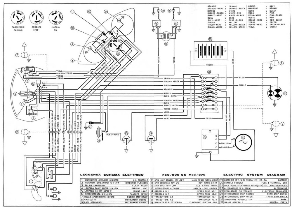 medium resolution of 1976 750 900 ss wiring diagram