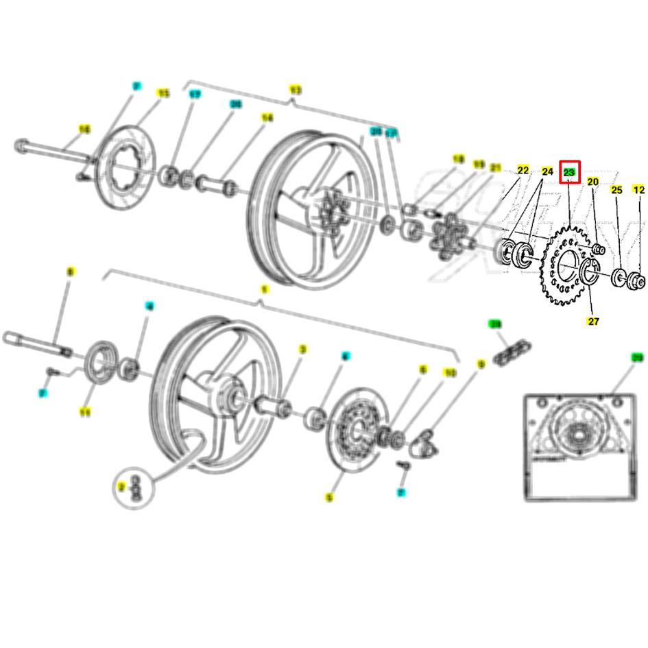 Kit di Trasmissione Posteriore Ducati Per MTS 1200