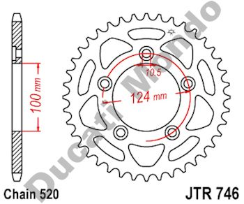 Rear sprocket 46 tooth JT Ducati 899 959 Panigale