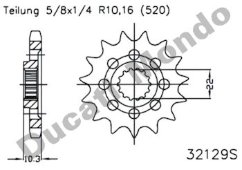 Esjot steel front sprocket 15 tooth 520 pitch MV Agusta F4