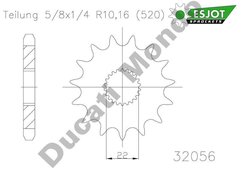 Esjot front Sprocket 12 tooth Aprilia RS125 MX125 SX125