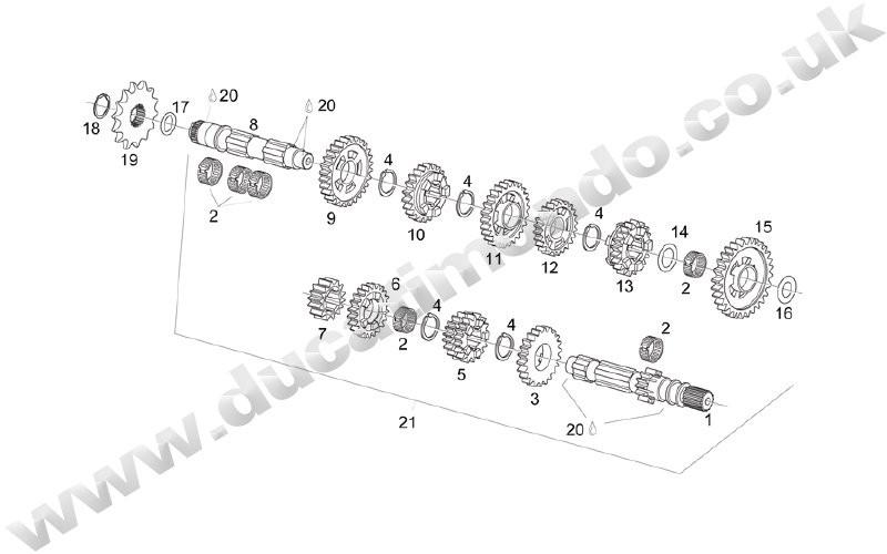 OEM Aprilia front sprocket retaining circlip RS125 MX125