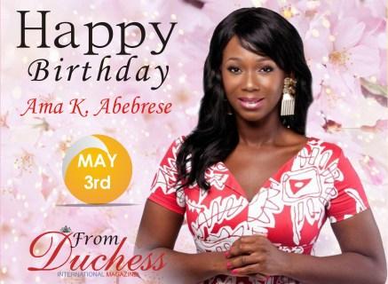 Ama K. Abebrese Birthday wish