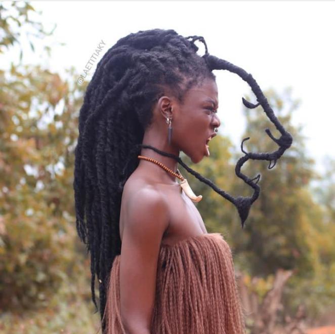 Laetitia Ky uses hair to create art