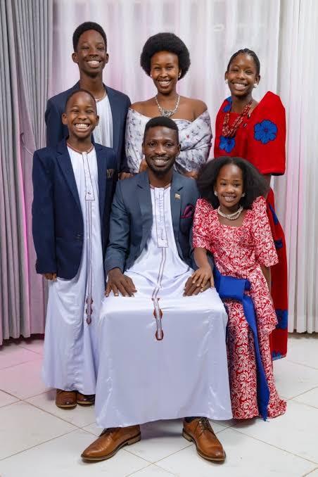Bobi Wine wife and kids