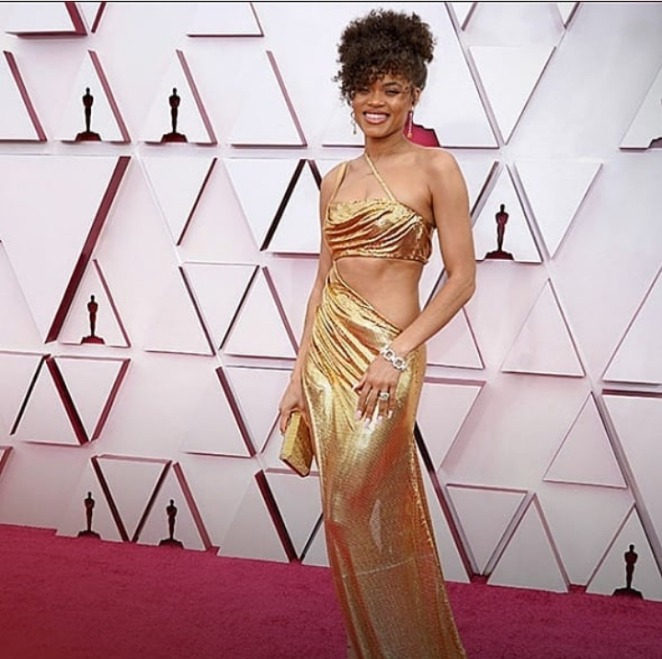 Andra Day in Vera Wang for 2021 Oscars