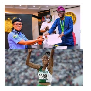 Finally! Nigerian Olympic Gold Medalist Chioma Ajunwa given three bedroom apartment by Lagos State