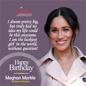 Happy 40th Birthday Megan Markle: Duchess of Sussex