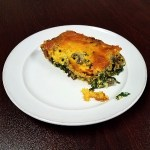 Spinach Casserole with Cheese, Bacon & Mushrooms