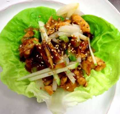 Thai Chicken Lettuce Wrap - Twin Peaks Version