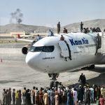 plane departing Afghanistan