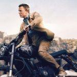 Bond on Motorcycle