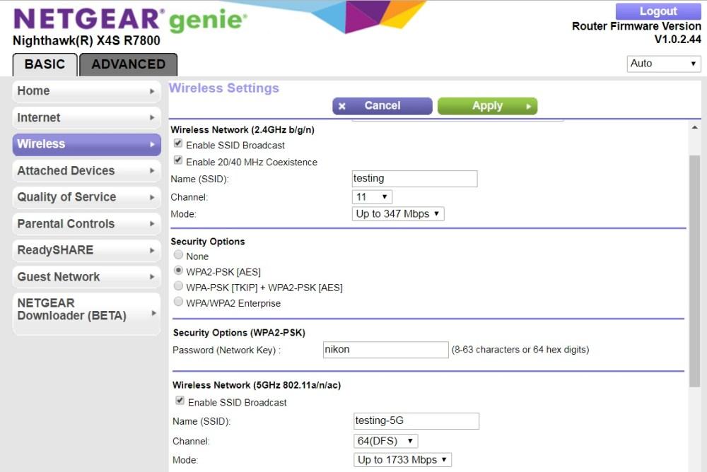 medium resolution of r7800 wireless settings